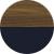 Американский орех янтарный/Индиго синий